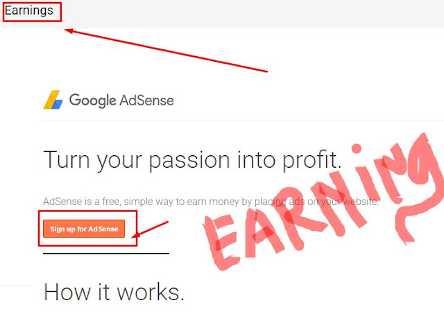 Cara Memunculkan Menu Earning / Penghasilan di blog