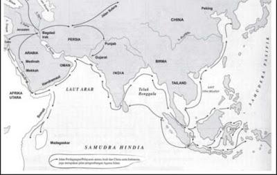 Peta Masuknya Islam Ke Indonesia