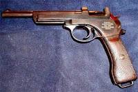 Пистолет системы Манлихера с подвижным стволом вперед