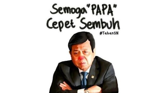 'Papa Cepat Sembuh': warganet 'gemas' KPK tak segera tangkap Setya Novanto