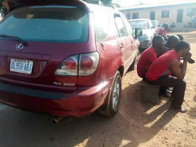 Photos: Police smash car snatching syndicate in Benue State