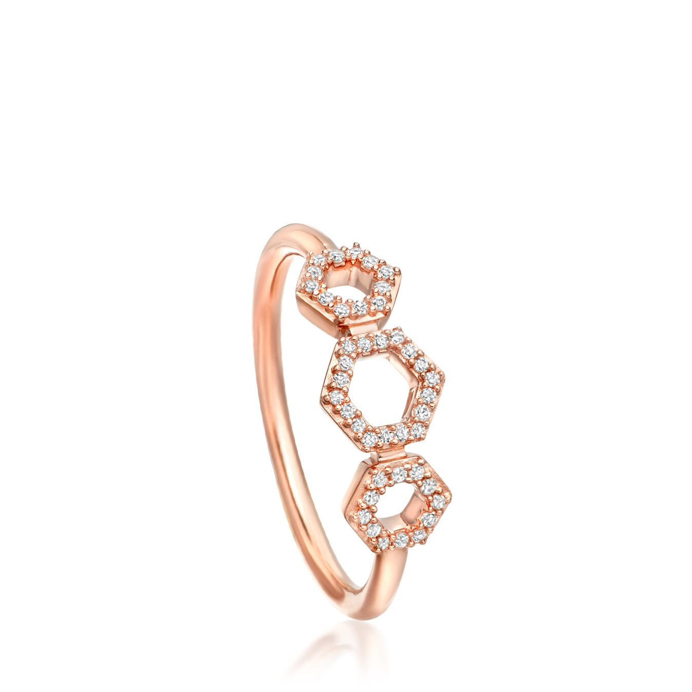 Astley Clarke Triple Honeycomb Diamond Ring - British luxury jewellery - UK style blog