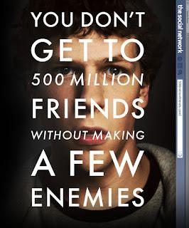 L'une des affiches promotionnelles de The Social Network, de David Fincher (2010)