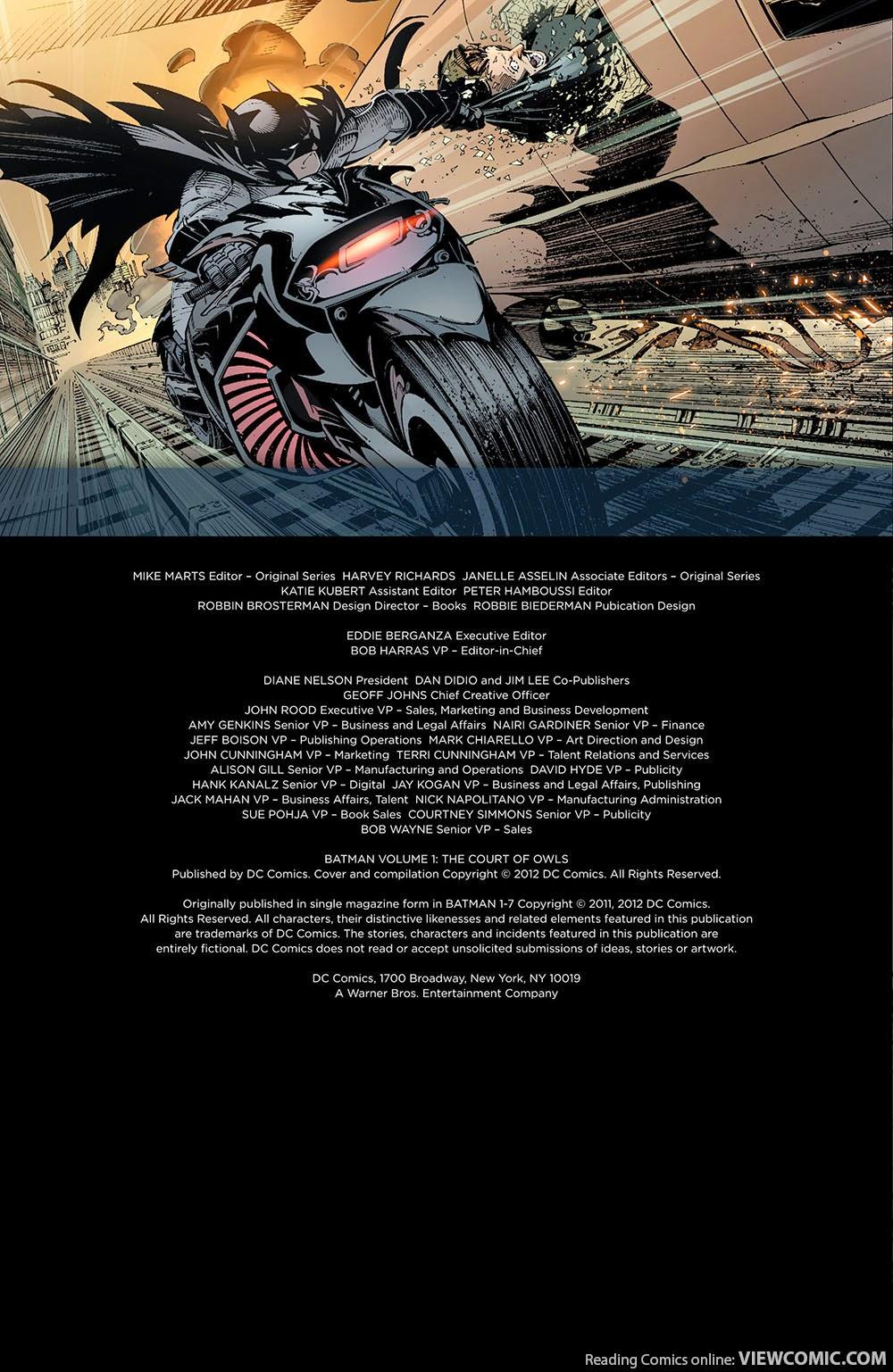Batman Vol. 1 The Court Of Owls Pdf