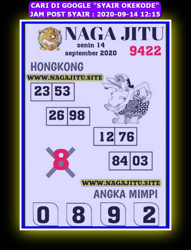 Kode syair Hongkong Senin 14 September 2020 235