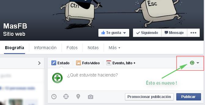 Nueva interfaz páginas Facebook - MasFB