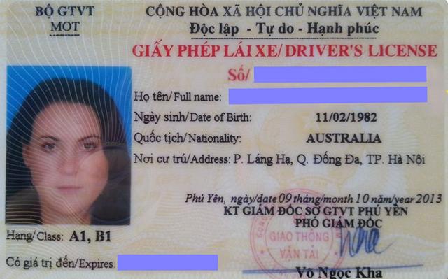 Đổi bằng lái xe nước ngoài sang bằng lái xe Việt Nam