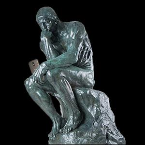 el villano arrinconado, humor, chistes, reir, satira, Rodin, el pensador, movil