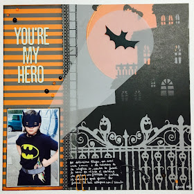 You're My Hero Scrapbook Page by Angela Tombari for The Robin's Nest