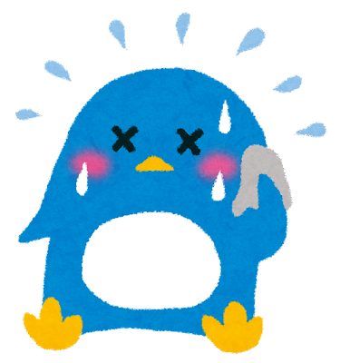 夏バテのイラスト「ペンギンさん」
