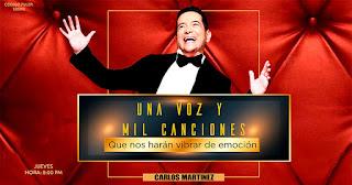 CARLOS MARTINEZ presenta UNA VOZ Y MIL CANCIONES