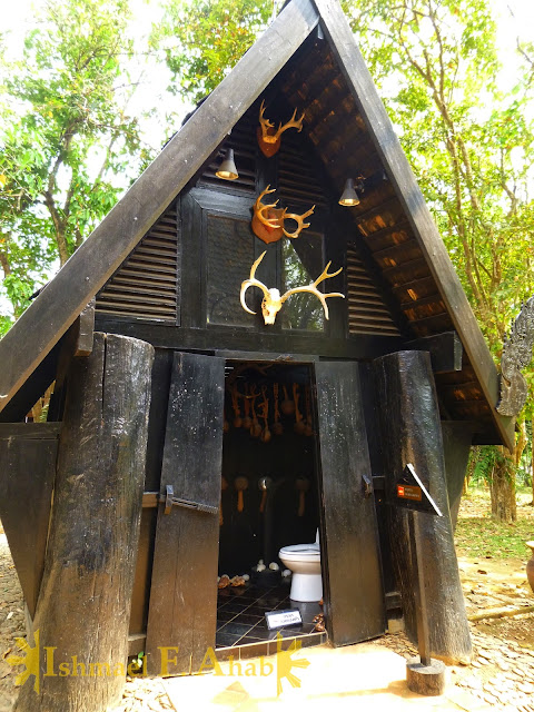 Weird toilet in the Black House, Chiang Rai, Thailand
