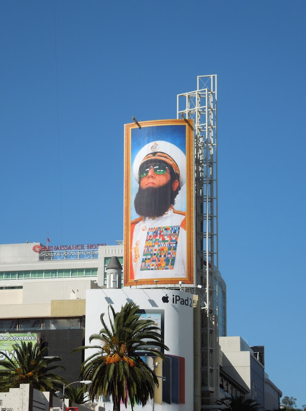 The Dictator movie billboard