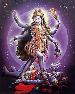 Goddess Kali Ma Kali, Marea Putere Cosmică A Timpului