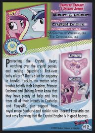 MLP Princess Cadance & Shining Armor Series 4 Trading Card