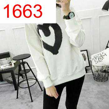 SWEATER LOPE KISS PUTIH - 1663