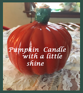 Pumpkin scented candle with shine