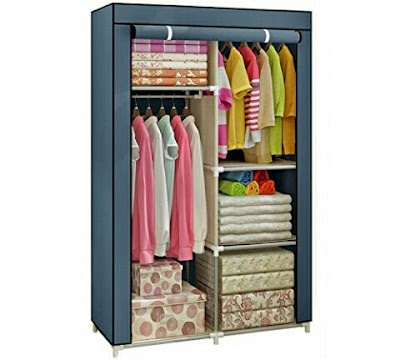 Yomeliy Wardrobe - Movable Clothes Closet Storage Organizer