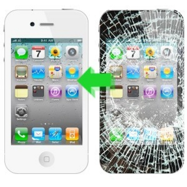 iPhone 4 sau khi được thay mới mặt kính