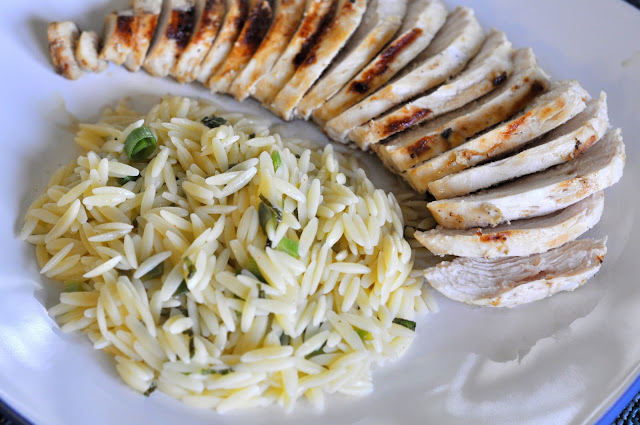 Grilled Chicken and Lemon Orzo Pasta | Taste As You Go