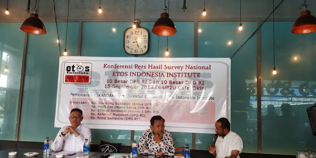 Survei ETOS: Bamsoet, Dede Yusuf & Fadli Zon layak dipilih lagi jadi anggota DPR