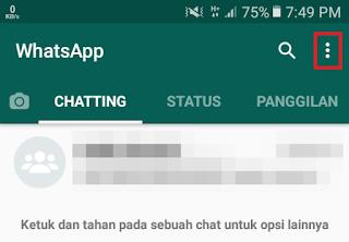 WhatsApp - Pilih Menu
