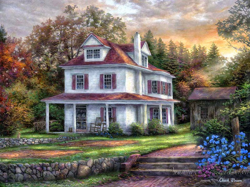 Chuck pinson 1978 romantic realism painter tutt 39 art for Old house music artists