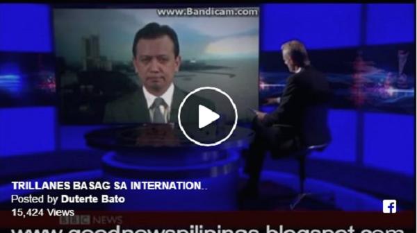 Watch   Trillanes Supalpal at pinahiya ng BBC host na si Stephen Lackur