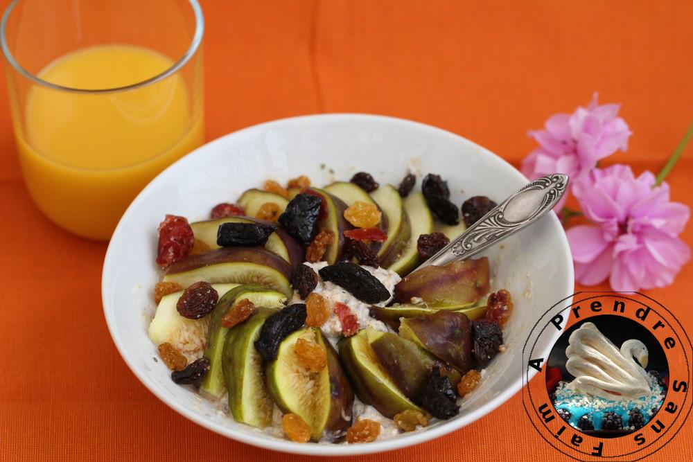 Flocons crémeux sans cuisson figues et fruits secs