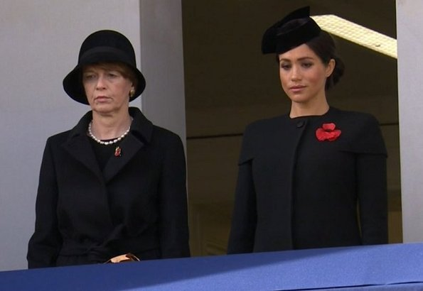 Queen Elizabeth, Duchess Camilla, Kate Middleton, Meghan Markle, Prince Harry, Duchess of Sussex, Countess Sophie at sunday service