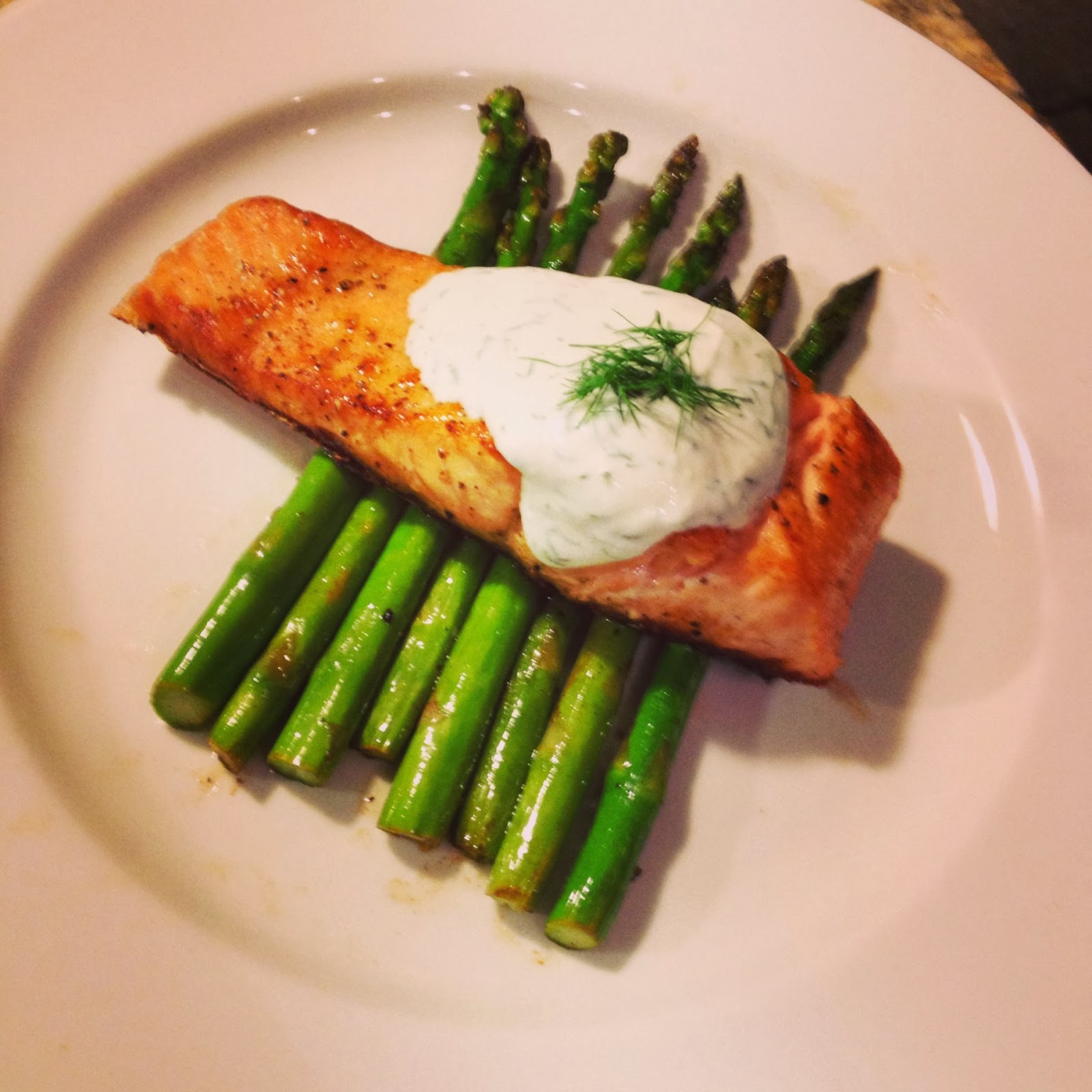 eating fabulously, salmon, asparagus, April Wardlaw, cooking, recipe