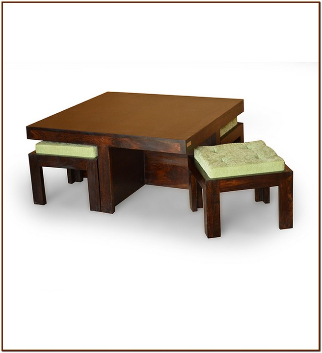 Table Stool: Coffee Table With Stools For Your Home