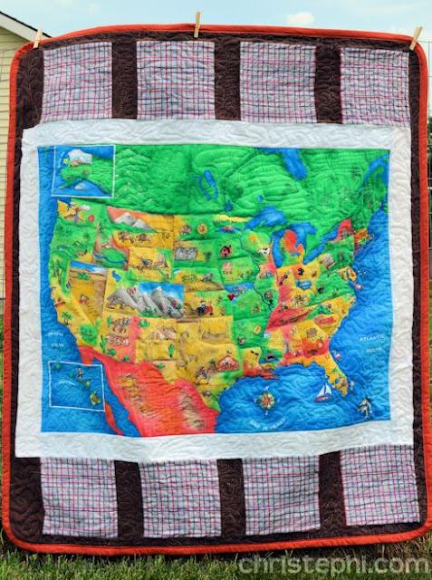 Christephi.com: United States Panel Quilt