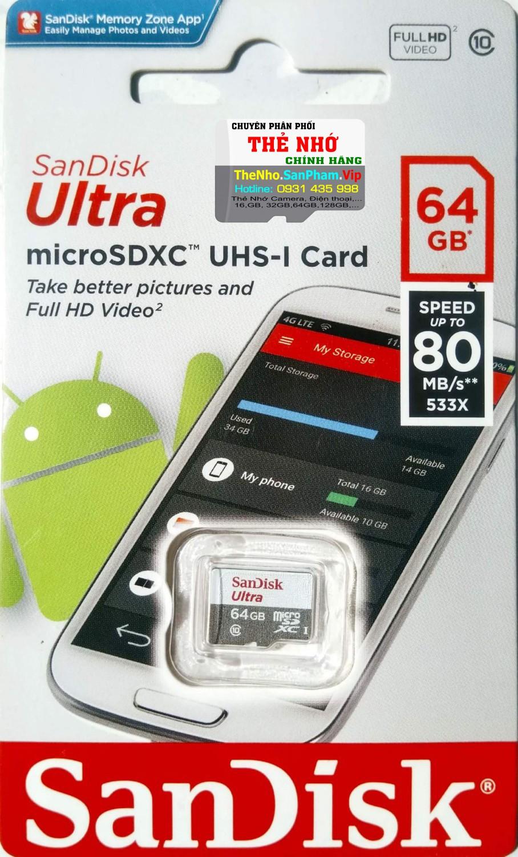 Thẻ nhớ MicroSD Sandisk