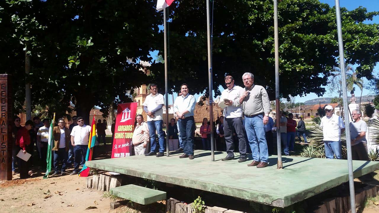 Este 20 de mayo se plantó el primer mojón ferderalista en San José de Chiquitos / RRSS
