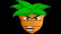 carrot boy cartoon clipart