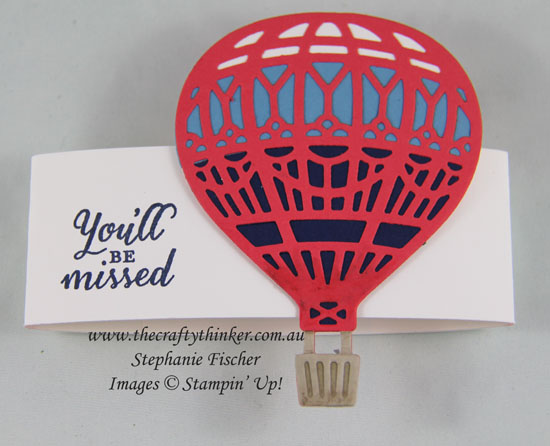 #thecraftythinker, Stampin Up, Sneak Peek, 2017 Occasions, Up & Away thinlits, Twist & Pop card, Retirement card, Stampin Up Australia Demonstrator, Stephanie Fischer, Sydney NSW