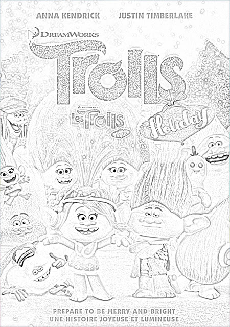 DreamWorks Trolls coloring pagees holiday.filminspector.com