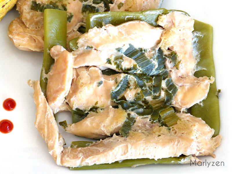 Papillotes d'aiguillettes de poulet au gingembre (cuisson vapeur)