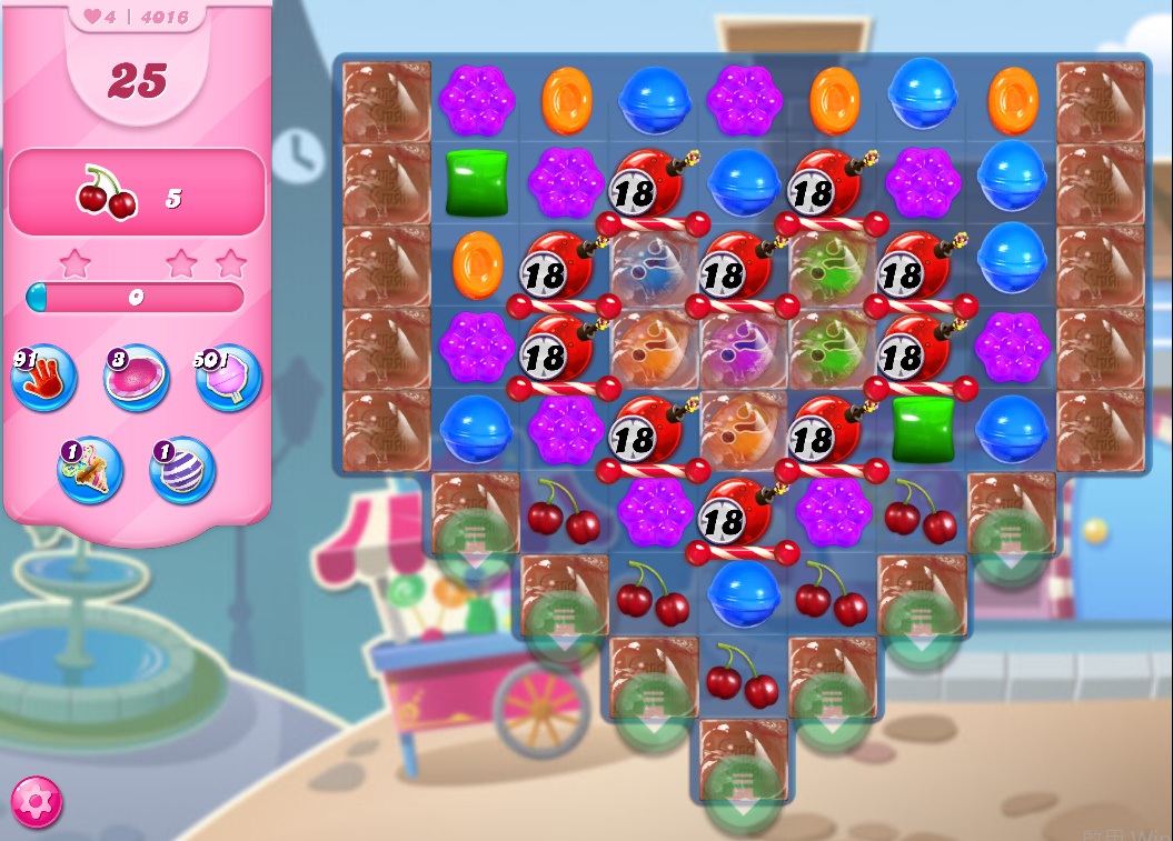 Candy Crush Saga level 4016