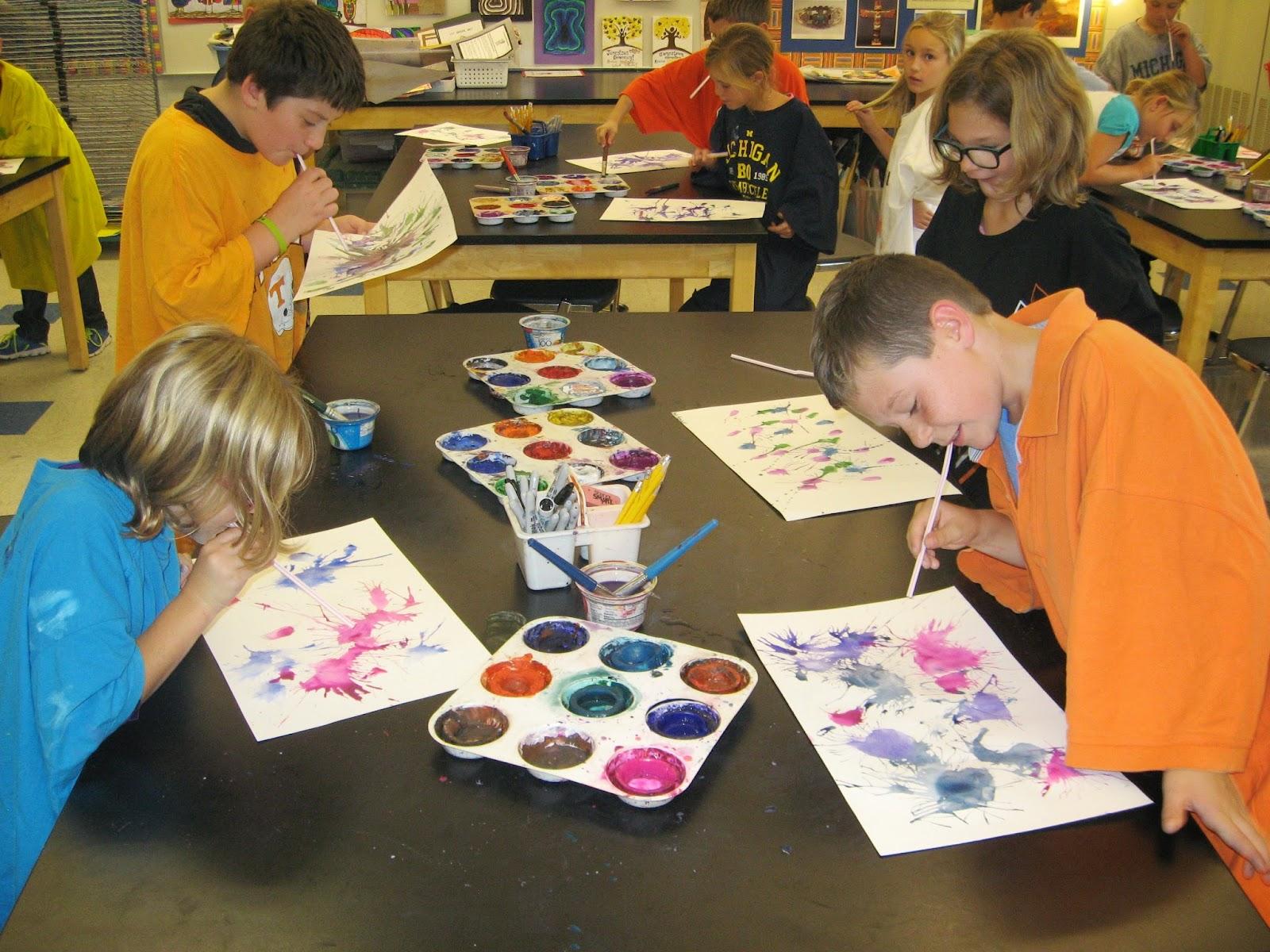 Jamestown Elementary Art Blog 3rd Grade Jackson Pollock Artworks