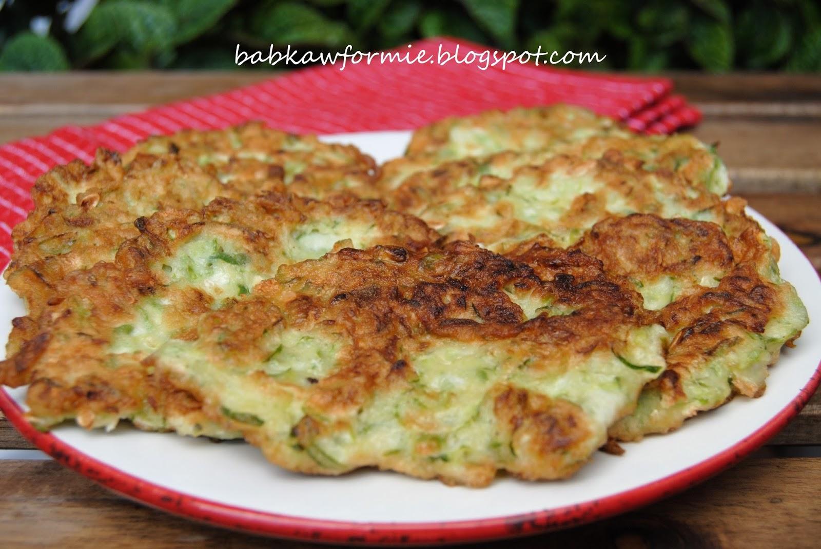 placki z zielonych ogórków babkawformie.blogspot.com
