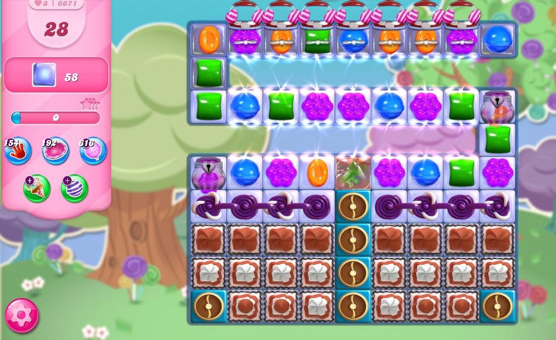 Candy Crush Saga level 6671
