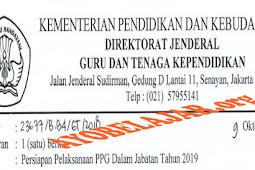Ralat Pengumuman Persyaratan Dan Jadwal PPG Dalam Jabatan Tahun 2019