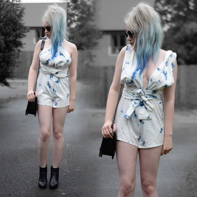 Sammi Jackson - Yoins Tie Dye Multiway Convertible Playsuit