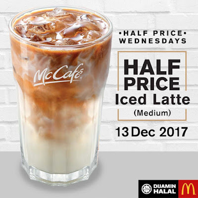 McDonald's Malaysia McCafe Iced Latte Half Price Discount Wednesdays Promo