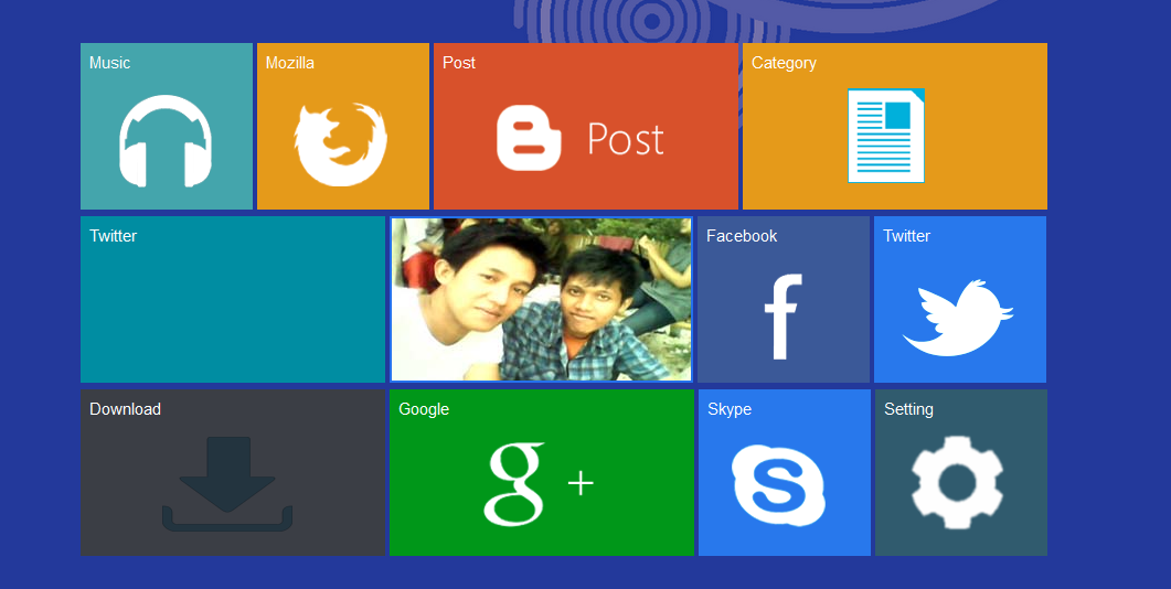 Template Blog windows 8