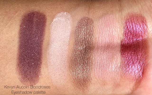 kevyn aucoin bloodroses eyeshadow palette swatches and review