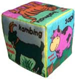 Mainan Dari Kain Flanel Dadu Binatang