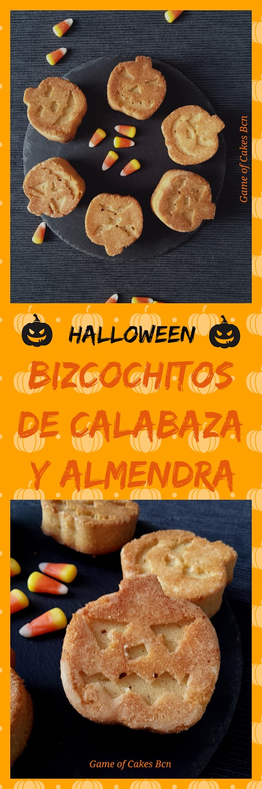 Halloween bizcochitos de calabaza y almendra Game of Cakes Bcn